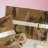 Discerning Camouflage Traditional Guest Book-Guest Books-Here Comes The Bling™
