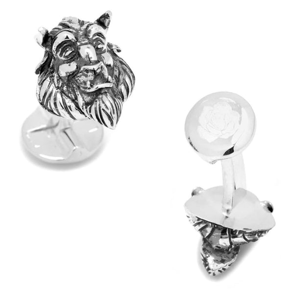 Disney's Beauty and The Beast - 3D Classic Beast Head Cufflinks-Cufflinks-Here Comes The Bling™