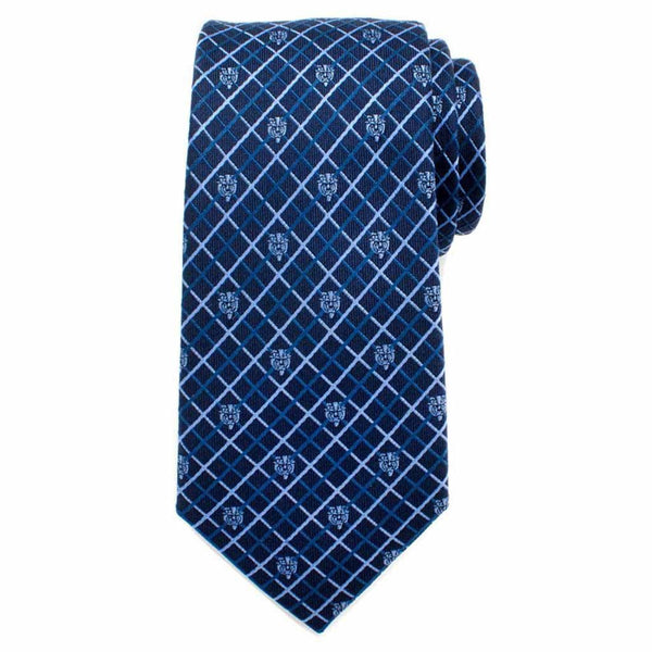 Disney's Beauty and The Beast - Beast Navy Plaid Men's Tie-Tie-Here Comes The Bling™