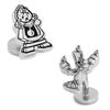 Disney's Beauty and The Beast - Cogsworth and Lumiere Cufflinks-Cufflinks-Here Comes The Bling™