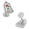 Disney's Beauty and The Beast - Enchanted Rose Cufflinks-Cufflinks-Here Comes The Bling™