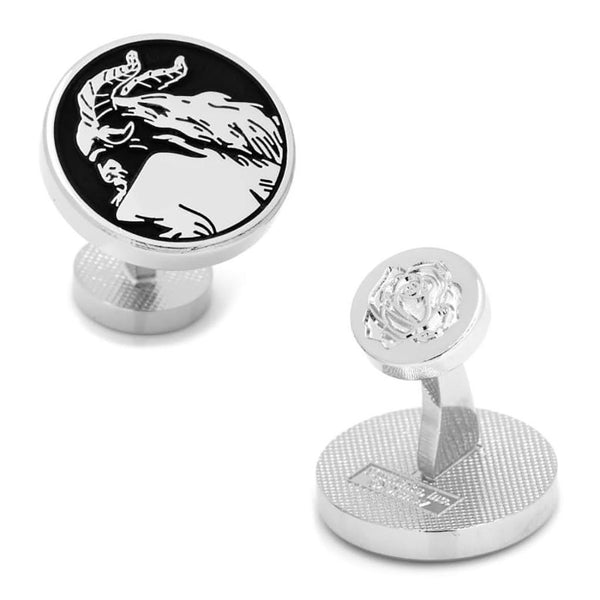 Disney's Beauty and The Beast - New Beast Silhouette Cufflinks-Cufflinks-Here Comes The Bling™