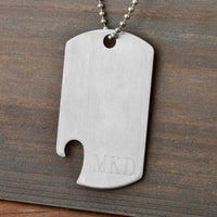 Dog Tag Bottle Opener-Dog-Tag-Necklace-Here Comes The Bling™