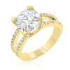 Double Band Cubic Zirconia Engagement Ring-Rings-Here Comes The Bling™