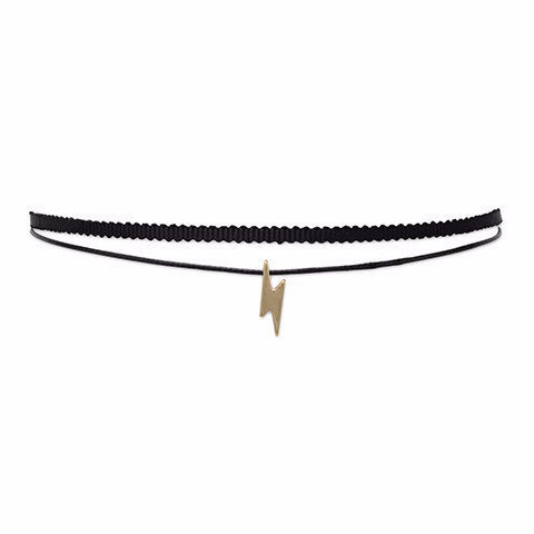 Double Strand Fashion Lightning Bolt Slide Choker-Necklaces-Here Comes The Bling™