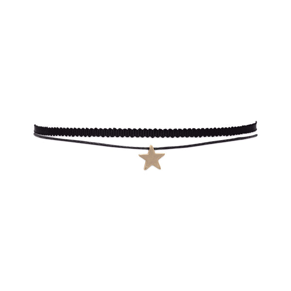 Double Strand Fashion Star Slide Choker-Necklaces-Here Comes The Bling™