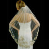 Couture Light Gold Lace Accented Bridal Veil