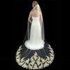 Couture Light Gold Lace Cathedral Bridal Veil