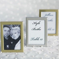 Easel Back Mini Photo Frames Brushed Silver Pack of 3-Shop Trending Wedding Themes-Here Comes The Bling™
