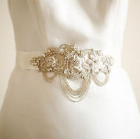 Edith Bridal Sash by Millieicaro-Sash-Here Comes The Bling™