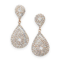 Elegant Gold Teardrop Crystal Prom Earrings-Earrings-Here Comes The Bling™