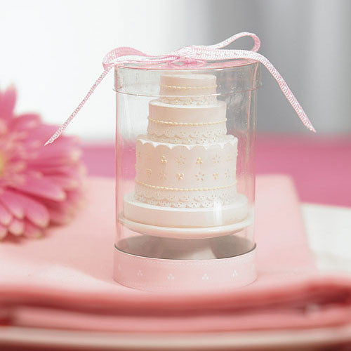Elegant Lace Wedding Cake Candle-Favors-Candles-Here Comes The Bling™