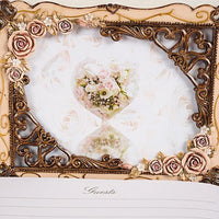 Elegant Vintage Rose Guest Book-Guest Books-Here Comes The Bling™