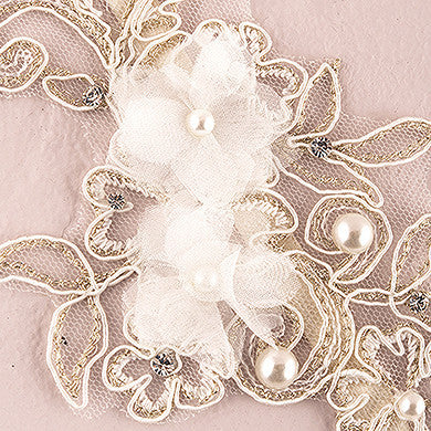 Embroidered Appliqué Bridal Garter-Garters-Here Comes The Bling™