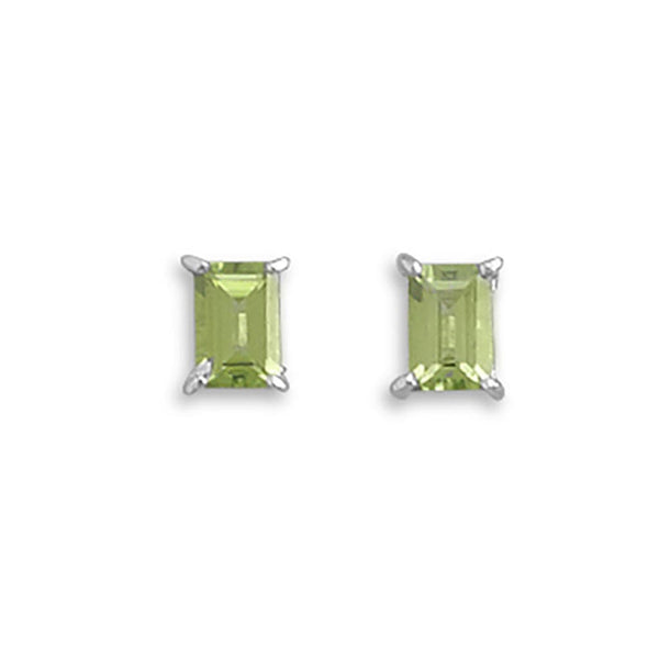 Emerald Cut Peridot Earrings-Earrings-Here Comes The Bling™