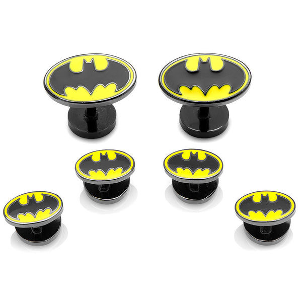 Enamel Batman Tuxedo Stud Set-Tux Stud Set-Here Comes The Bling™