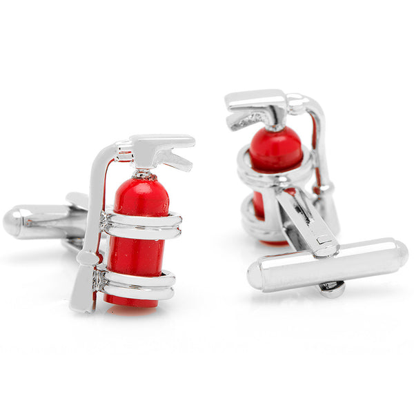 Enamel Fire Extinguisher Cufflinks-Cufflinks-Here Comes The Bling‰̣ۡå¢