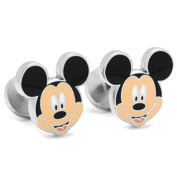 Enamel Mickey Head Cufflinks-Cufflinks-Here Comes The Bling™