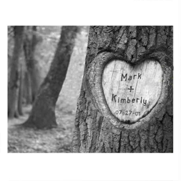 Everlasting Love Tree Carving Canvas Sign-Sign-Here Comes The Bling™