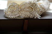Evrose Bridal Sash by Millieicaro-Sash-Here Comes The Bling™