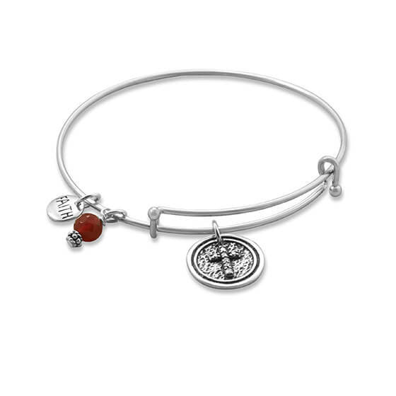 Expandable Multicharm Faith Bangle Bracelet-Bracelets-Here Comes The Bling™