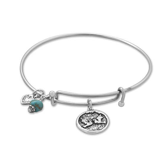 Expandable Multicharm Love Bangle Bracelet-Bracelets-Here Comes The Bling™