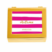 #FABULOUS Modern Fuchsia Striped Personalized Jewelry Box (Available in 3 Colors)-Jewelry Box-Here Comes The Bling™