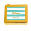 #FABULOUS Modern Peacock Green Striped Personalized Jewelry Box (Available in 3 Colors)-Jewelry Box-Here Comes The Bling™