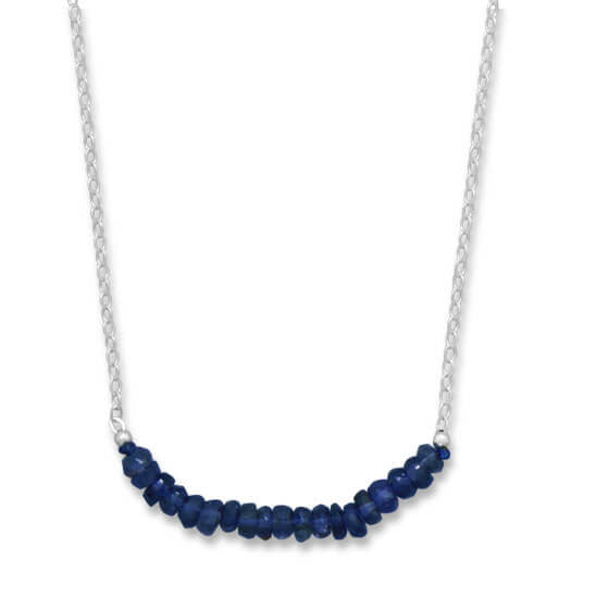 Faceted Iolite Bead Necklace September Birthstone-Necklaces-Here Comes The Bling™