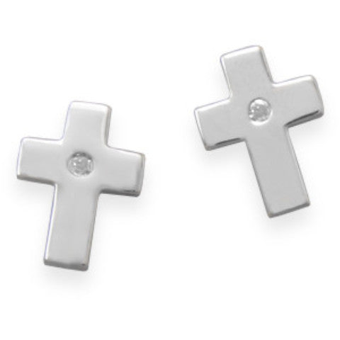 Faith Shines Diamond Stud Earrings-Earrings-Here Comes The Bling™