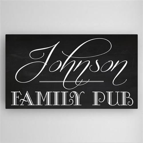 Family Pub Canvas Sign-Sign-Here Comes The Bling™
