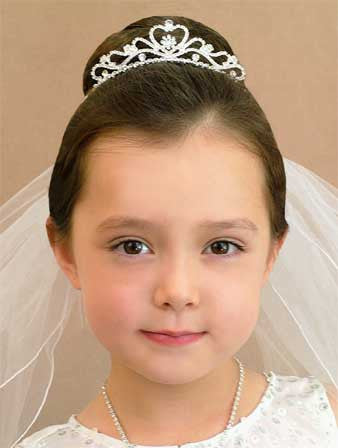 Fancy Heart Flowergirl Tiara-Girls-Headpieces-Here Comes The Bling™