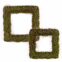 Faux Moss and Wicker Square Frame (Available in 2 Sizes)-Decor-Hanging-Here Comes The Bling™