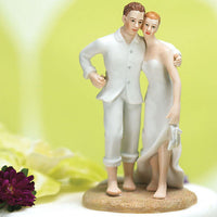 """Feet in The Sand"" Beach Cake Topper ( Select From 7 Hair Colors )-Cake Toppers-Here Comes The Bling™"