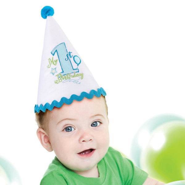 First Birthday Cap - Blue