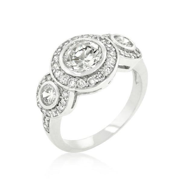Fitzgerald Cubic Zirconia Ring-Rings-Here Comes The Bling™