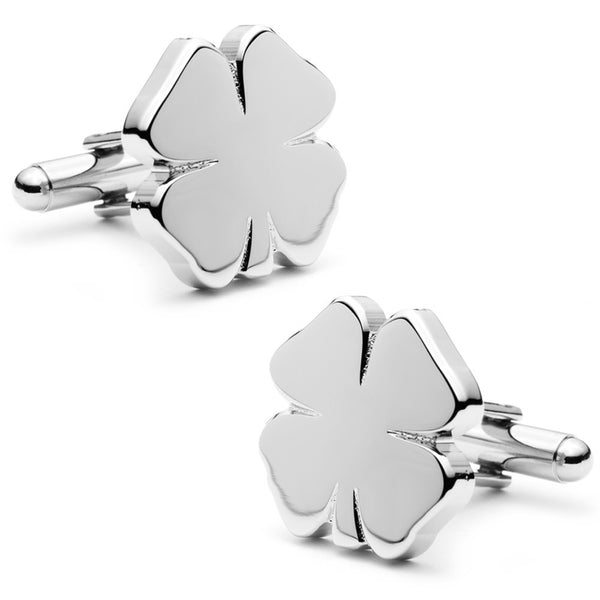 Four Leaf Clover Cufflinks-Cufflinks-Here Comes The Bling䋢