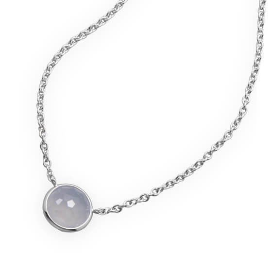 Freeform Faceted Blue Chalcedony Necklace-Necklaces-Here Comes The Bling™