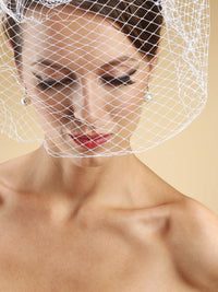 French Netting Birdcage Face Veil (3 Colors)-Birdcage-Here Comes The Bling™
