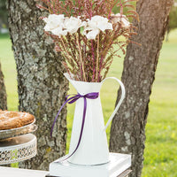 French Provençal Style Enamel Pitcher-Decor-Centerpiece-Here Comes The Bling™