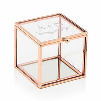 """Garland Under "" Etched Monogram Rose Gold Small Glass Jewelry Box-Jewelry Box-Here Comes The Bling™"