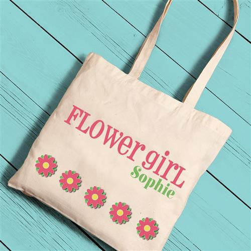 Girl Canvas Tote - Flower Girl-Girls-Bags-Here Comes The Bling™