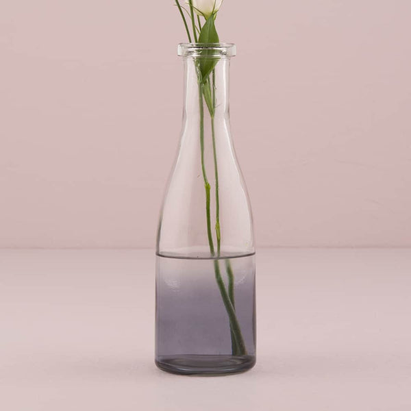 Tall Ombre Smoke Glass Bottle