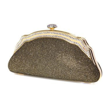 Glistening Minaudiere Evening PurseinGold-Clutch-Here Comes The Bling™