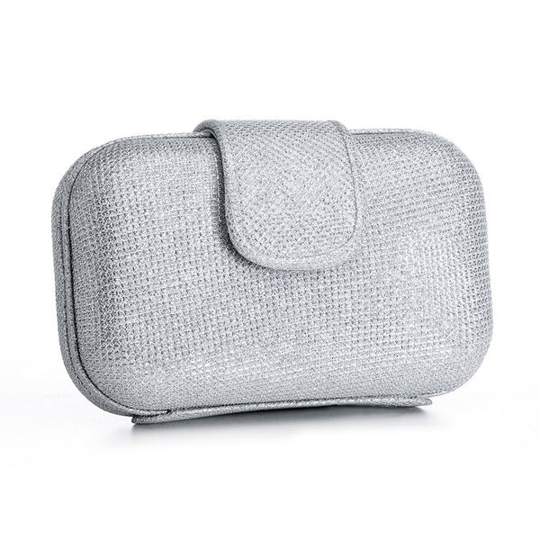 Glitter Cocktail Minaudiere inSilver-Clutch-Here Comes The Bling™