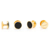 Gold and Onyx Studs-Tux Stud Set-Here Comes The Bling™