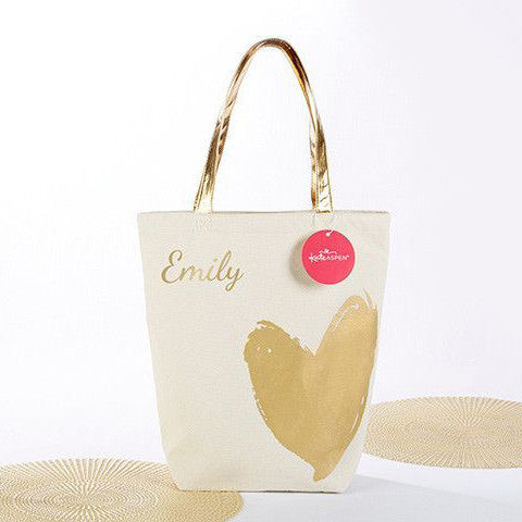 Gold Artists Heart Tote Bag-Tote Bags-Here Comes The Bling™