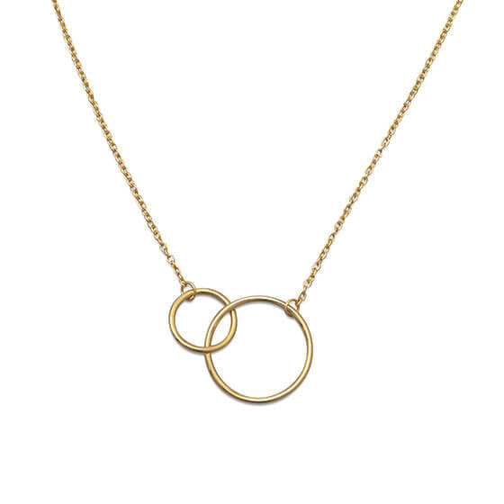 Gold Circle Link Necklace-Necklaces-Here Comes The Bling™