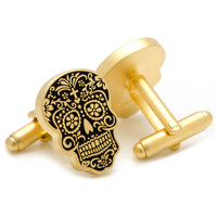 Gold Day of the Dead Cufflinks-Cufflinks-Here Comes The Bling‰̣ۡå¢