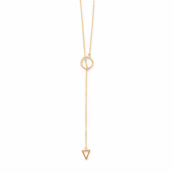 Gold Geometric Lariat Front or Back Necklace-Necklaces-Here Comes The Bling™